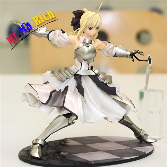 23cm Fate/stay night Fate stay night saber lily action figure toys collection Christmas gift doll alen new hot fate stay night racing girl black blue white saber throne pajamas action figure toys collection christmas gift doll