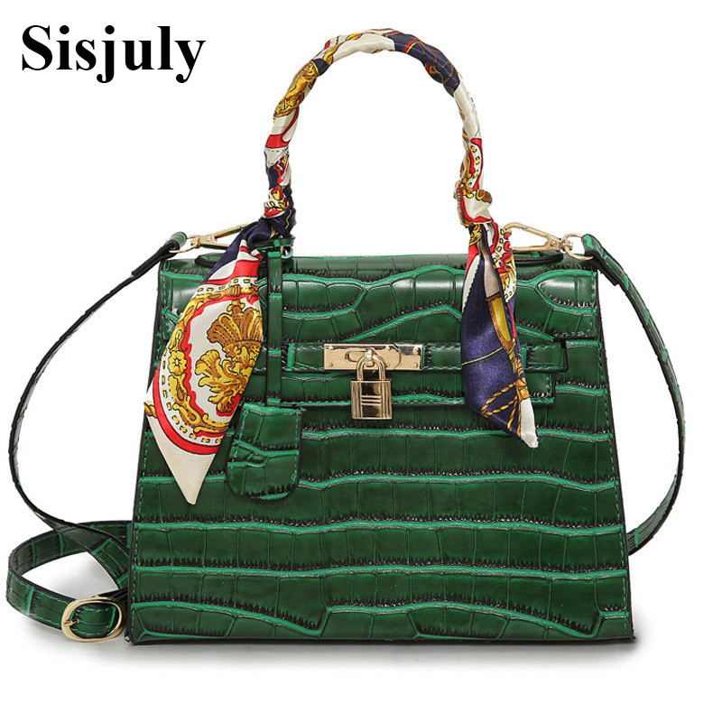 Women Alligator Shoulder Bags Elegant Lady PU Leather Handbag Female Luxury Handbags Women Bags Designer Fashion Top-Handle Bags elegant top handle handbags female new designer pu leather evening bag 2017 fashion high grade exquisite embroidered women totes