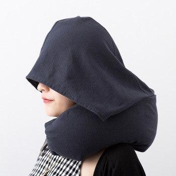 כרית נסיעות ושינה + כובע לכיסוי העיניים