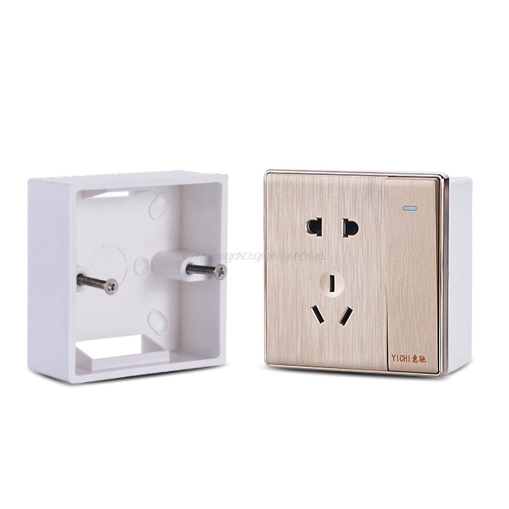 86X86 PVC Thickening Junction Box Wall Mount Cassette For Switch Socket Base Switch Bottom Box Electrical Box Je21 19 Dropship