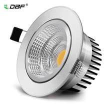 Silver Ultra gorgeous Dimmable LED COB Downlight AC110V 220V 6W/9W/12W/15W Recessed LED Spot Light  Decoration Ceiling Lamp цена и фото