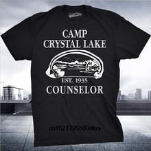 ac82c16c857f Men t shirt Camp Crystal Lake Shirts Camping Vintage Horror Novelty Tees t- shirt novelty