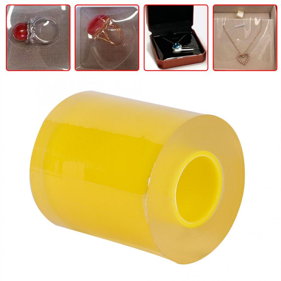 1 Roll 8cm Transparent Anti-static Watch PVC Protective Tape Jewelry Repair Accessory Film Watch Part Repair Tool for Watchmaker