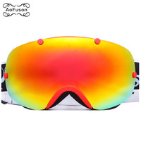Brand Ski Goggles . Snowboard Eyewear Double Layers Anti fog Lens Large Spherical Photochromic Mask Snow Snowmobile Glasses