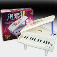 children battery piano with music and light toys/ Kids Electronic organ with 14 keyboard for baby music instrument toys