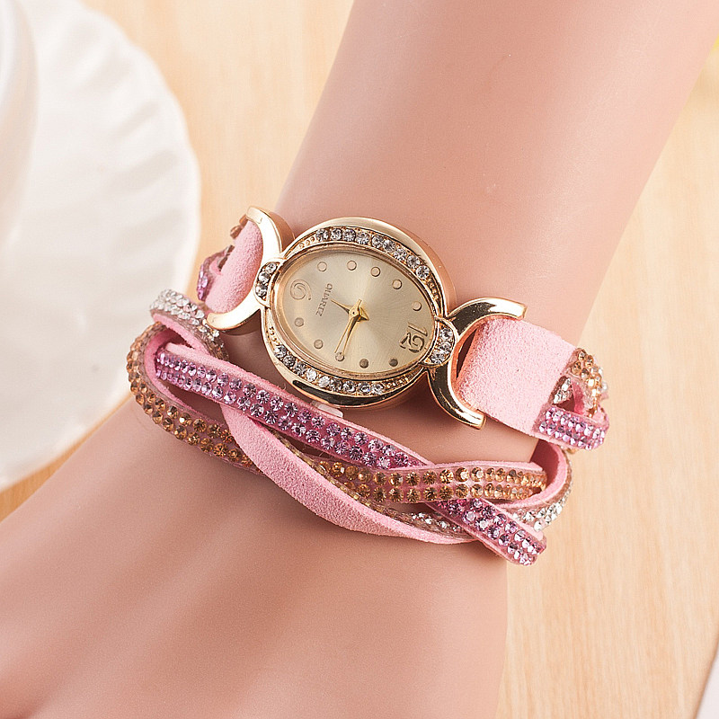 Dames Armband Diamant Cirkel Horloge Student Mode Tafel Vrouwen Stijl Relogio Feminino Vrouwen Horloges Montre Femme 2018