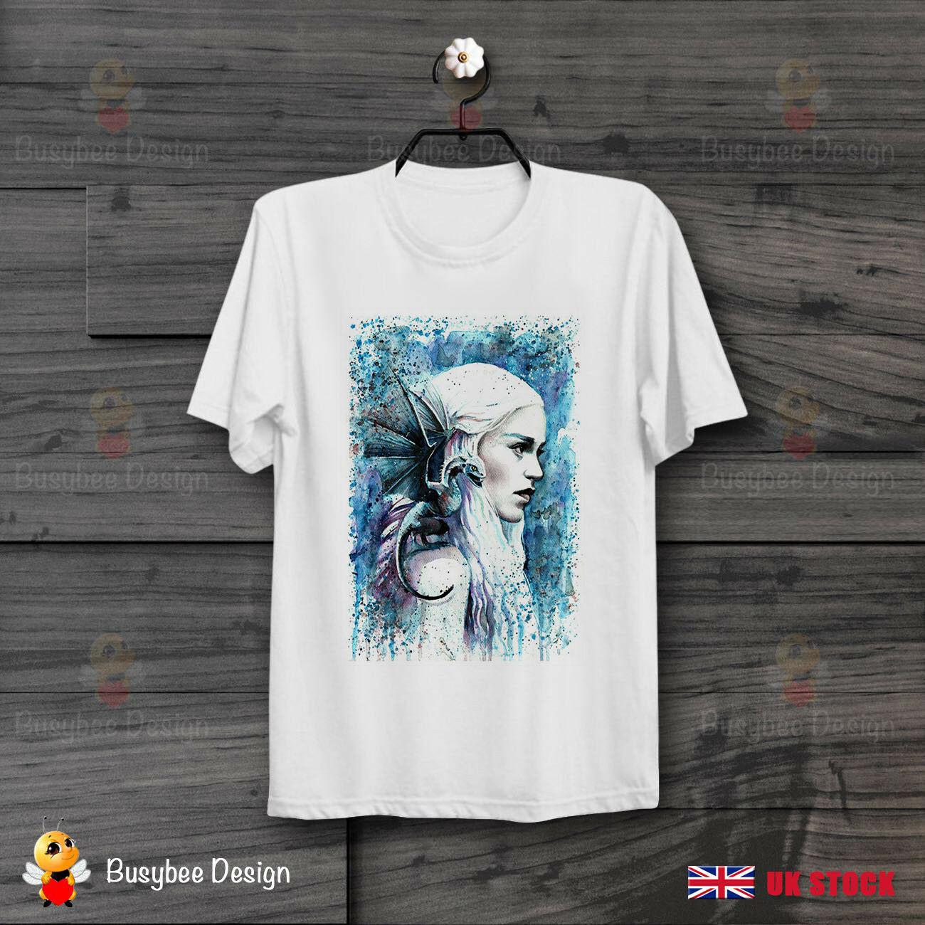 Game of Thrones Khaleesi Art Poster Cool unisexe t-shirt B437 hip hop drôle t-shirt hommes été o cou tee 2019 t-shirts chauds
