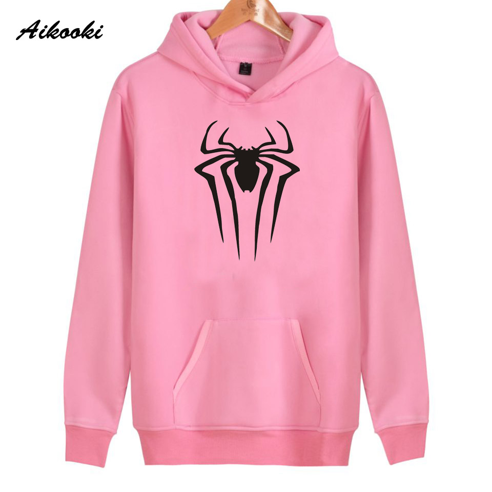 Spider-Man women/men Hoodies Sweatshirt Aikooki Hoodie Casual Winter film Spider-Man Cotton Women Sweatshirt Hoodie Tops XXS-4XL