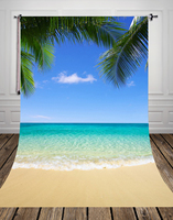 150 220CM Free Shipping Hawaii Beach Photography Background Digital Printing Newborn Backdrops For Photo Studio Or
