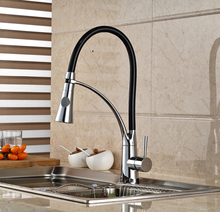 Deck Mount Single Lever Kitchen Hot Cold Water Faucet Single Handle Mixer Taps for Kitchen Chrome