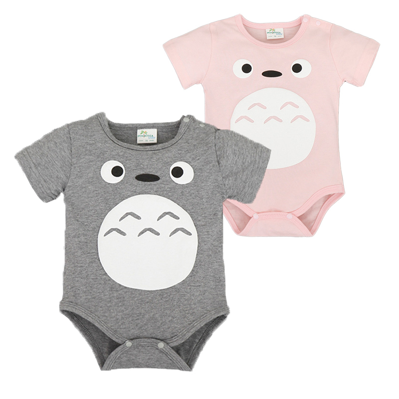 Totoro Clothing Summer Baby Short Sleeve Newborn