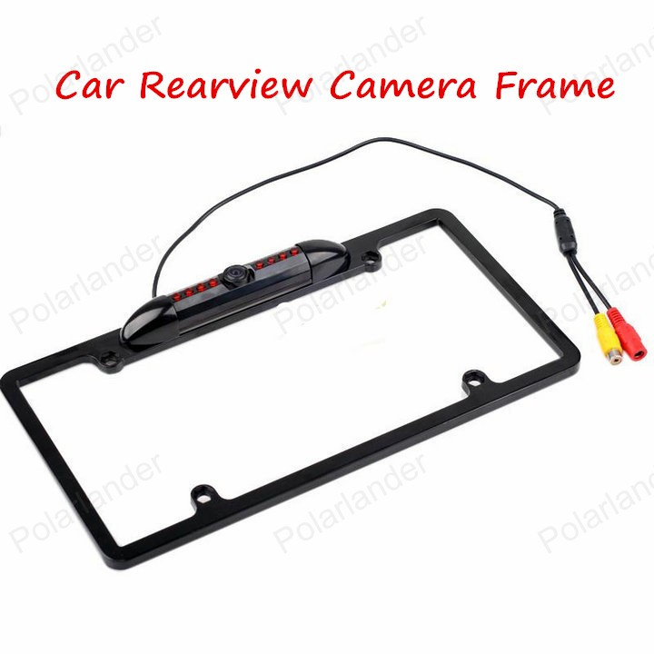 USA Car License Plate Frame Night Vision Rear View