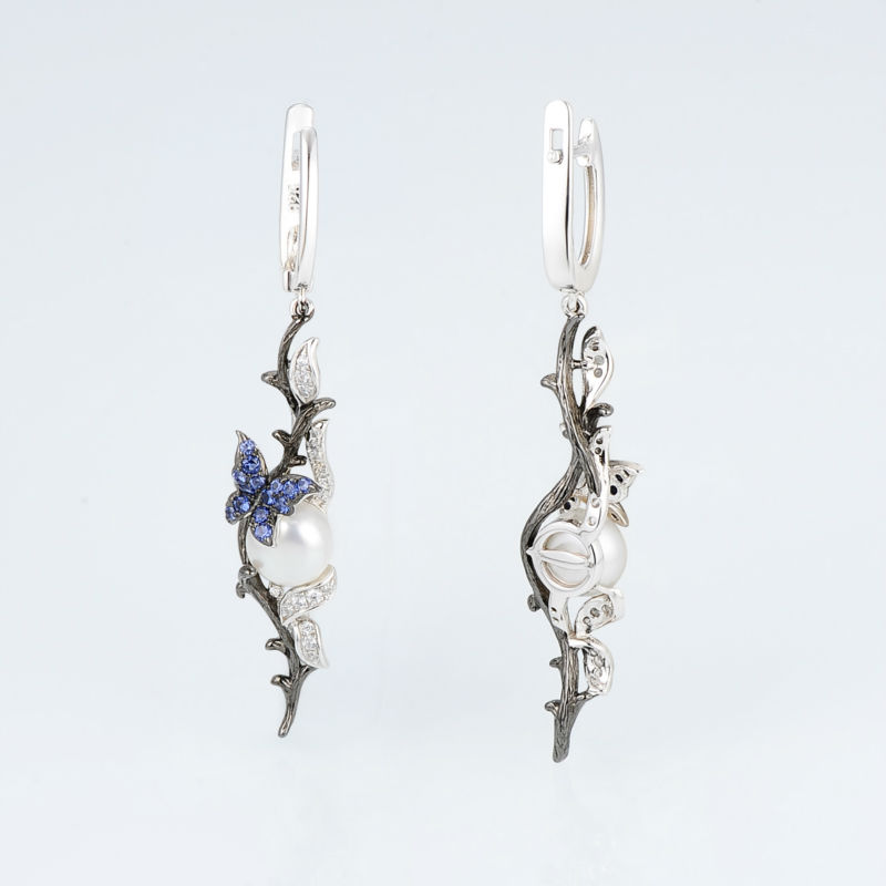 E307634BNFZSV925-SV5-Silver Earrings
