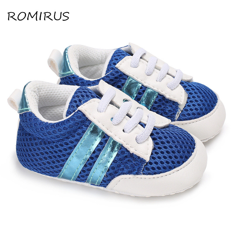 Brand New Breathable Sneakers Baby Boys Girls Soft Soled