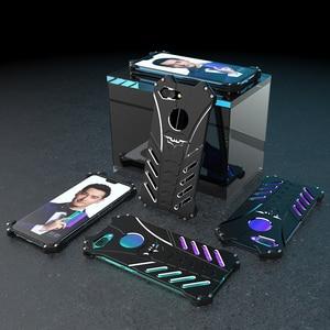 Image 3 - Luxury Batman Kickstand Shockproof Case For Huawei Honor 10 Aluminum Bumper Skin Armor Metal Back Cover