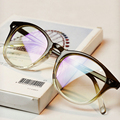 DRESSUUP Cor Gradiente de Moda Óculos De Armação Mulheres Rodada Clássico Optical Óculos de Armação Do Vintage Óculos Homens Oculos Gafas