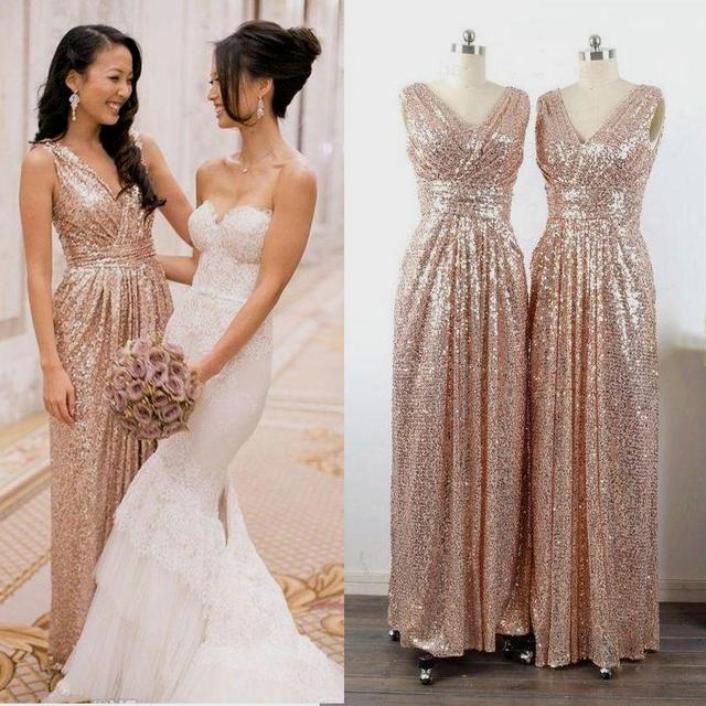 rose goud jurk