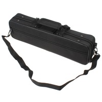 Black Portable Lightweight Flute Cloth Box With Shoulder Strap