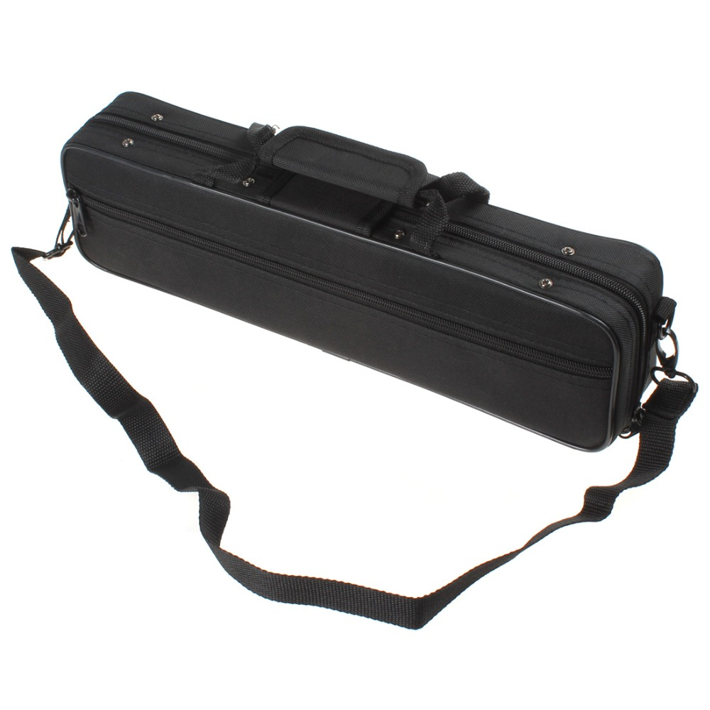 Lightweight SLADE  Black Cloth Flute Case 390 x 110 x 60mm  for All Flute Players