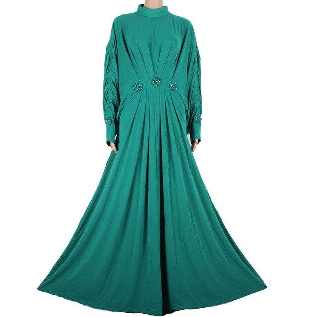 2015 Мусульманин Абая Кафтан Платье Исламская Одежда для Женщин Абая Моды Плюс Размер Арабские Дубай Кафтан Платье A13FP2A6015-2