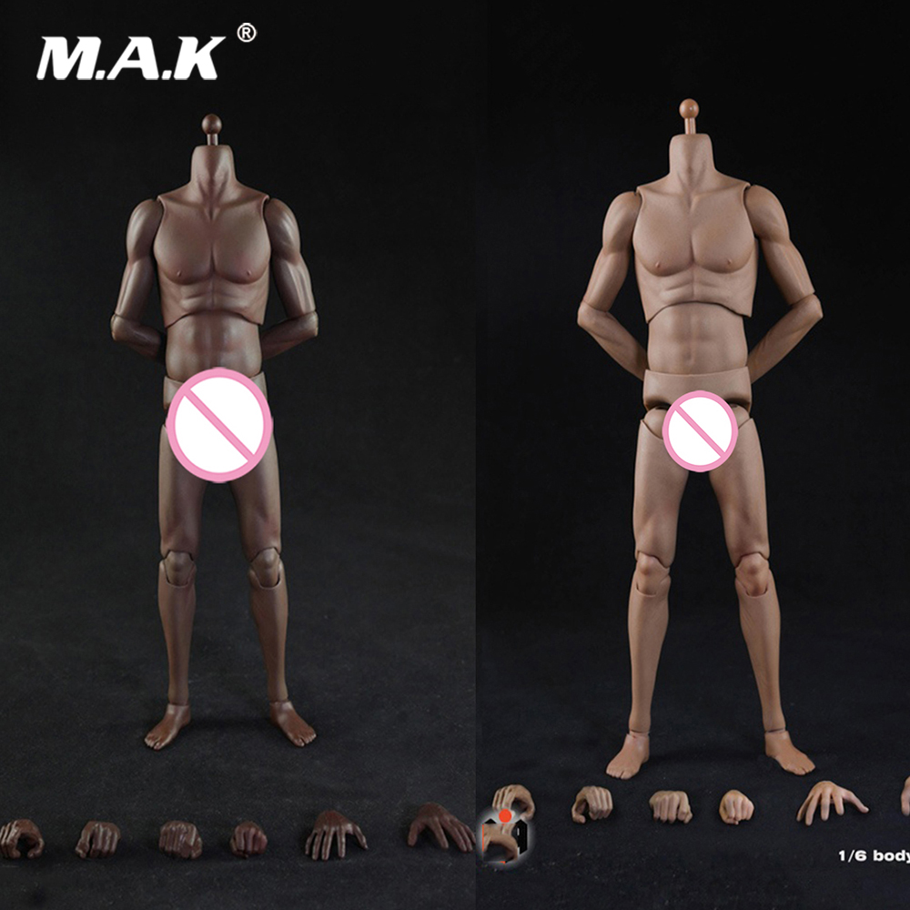 T01/T02 Collectible 1/6 Black/Pale Skin Color Super Sports Male Movable Body Figure High Version 28.5cm Model for Fans Gifts