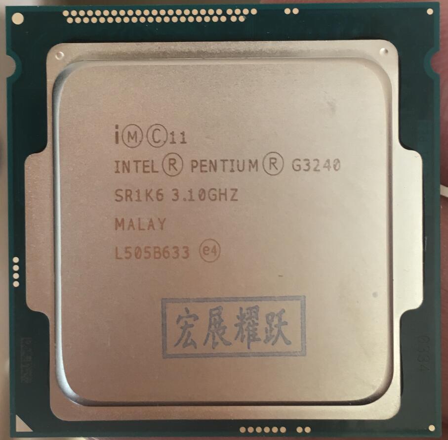 Intel Processor Processor G3240 LGA1150 22 nanometers Dual-Core 100% working properly Desktop Processor processor description languages 1