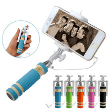 Super Mini Wired Selfie Stick Monopod For iphone 4 4s 5 5c 5s For iphone 6