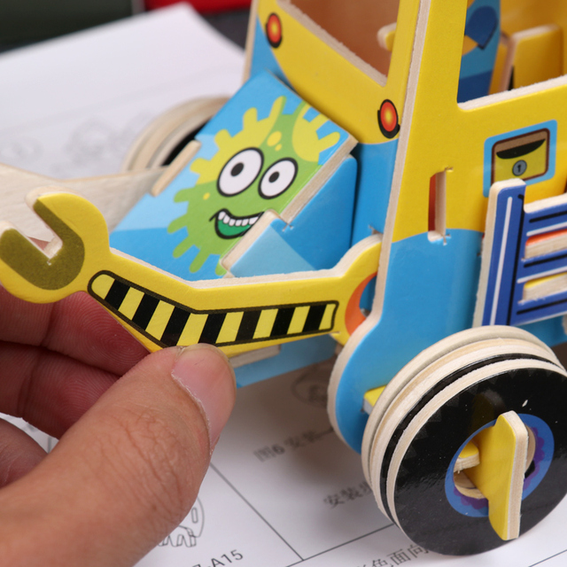 Kids-3D-Puzzle-Jigsaw-Traffic-Puzzles-Baby-toy-Kid-Early-learning-Educational-Toys-For-Children-Brinquedo