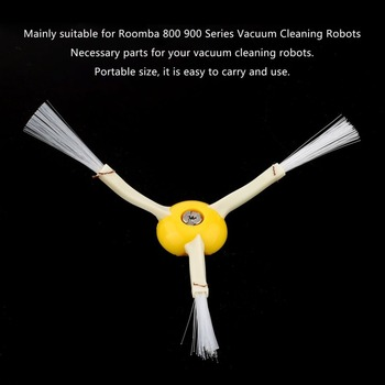 1Piece Robot 3-Arm Side Brush And 1x Srew Replacement For Irobot Roomba Vaccums Brush 680 780 500 600 700 630 650 770 Series Vacuum Cleaner Parts