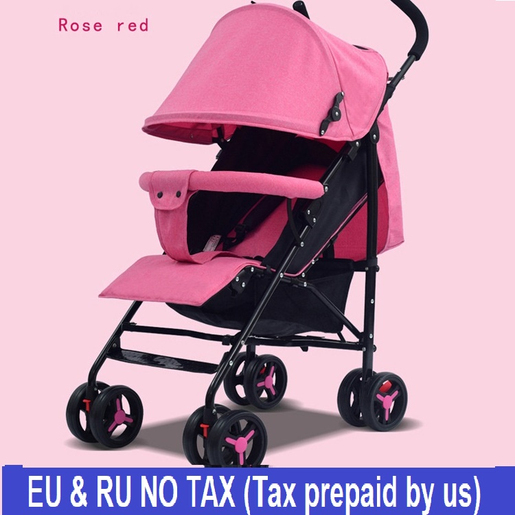 EU&RU Free custom tax Baby stroller light folding umbrella car can sit can lie ultra-light portable Four seasons baby trolley baby stroller ultra light portable shock absorbers bb child summer baby hadnd car umbrella