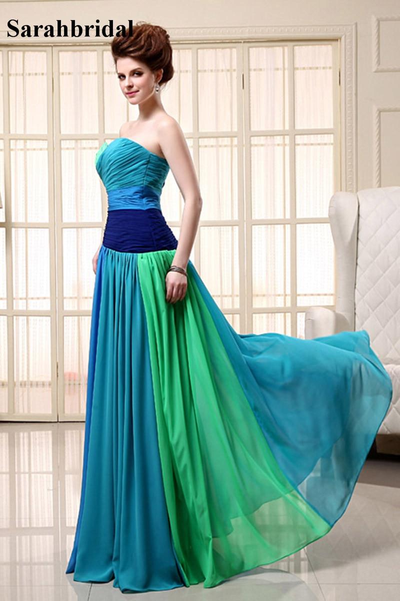 Colorful Rainbow Prom Dress Embellishment - All Wedding Dresses ...
