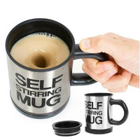 Novelty Items Stainless Steel Coffee Mixing Cup Plain Lazy Self Stirring Mugs