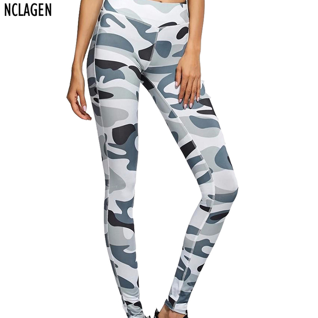 742a77df3e9ed NCLAGEN 2018 New Women Fashion Pants Camouflage Print Sexy Slim Fit Bottoms  Elastic Fitness Leggings For Woman Size S-L