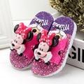 2017 el Más Nuevo Bebé Chica Zapatilla de Dibujos Animados Mickey Minnie Decor Kid Summer Sandals Niños anti-sliper Lindos Zapatos De Interior