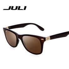 JULI New Bamboo Sunglasses Men Wood Sunglasses Oculos De Sol Feminino Wood Grain Sunglasses Brand Designer