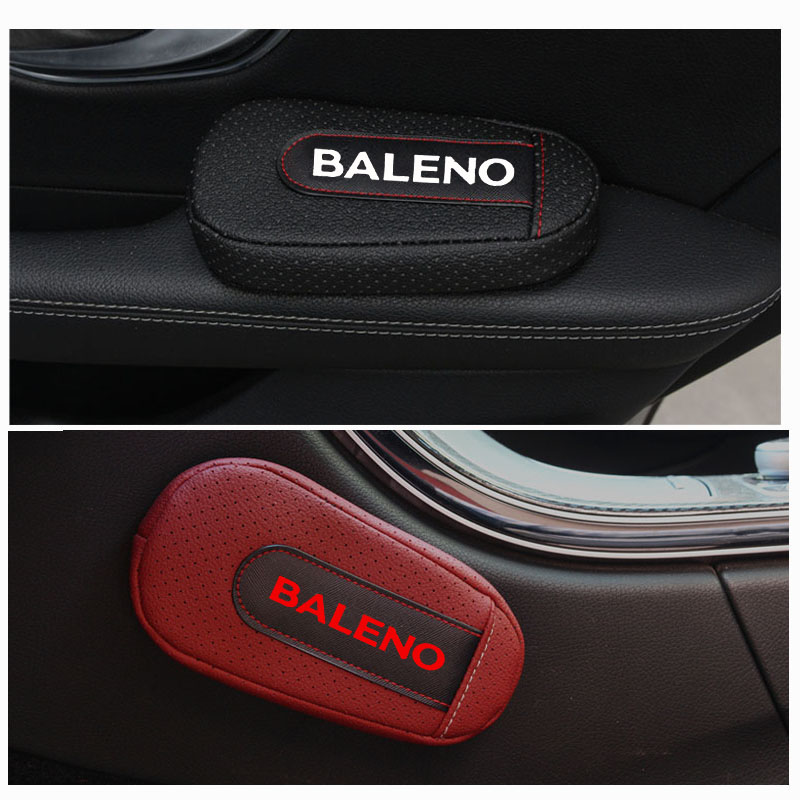 High Quality Leather Leg Cushion Knee Pad Car Door arm pad Interior Car Accessories For Suzuki Baleno Seat Supports     - title=