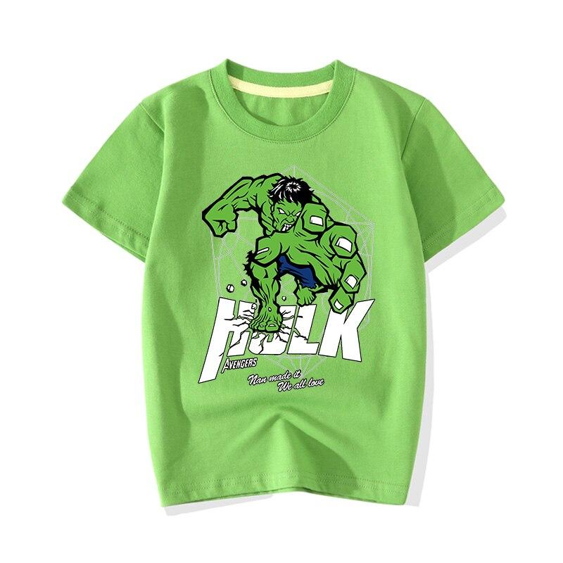 Big Boy Girl Summer Cartoon Hero Hulk Print T-shirts Clothes Children Baby Cute Pink Short Sleeve Tee Top Tshirts Clothing JY011 (7)