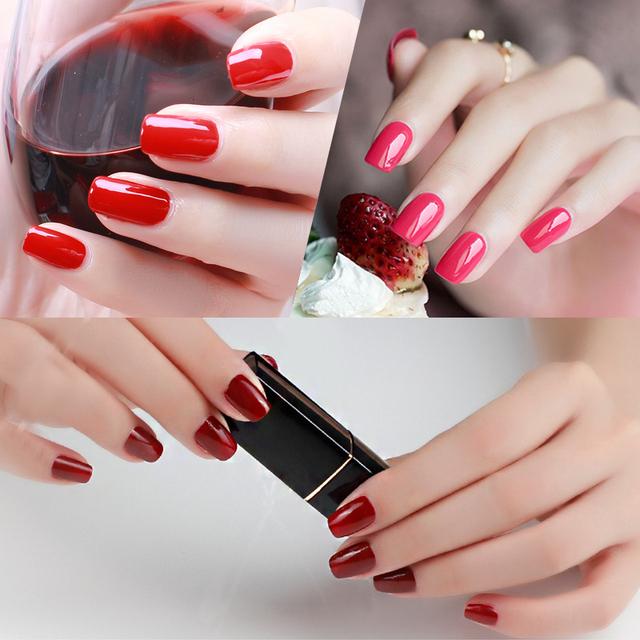 Gel Nail Polish Red Color Series