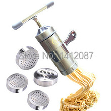 Portable stainless steel pasta machine creative kitchen manual noodle maker tools