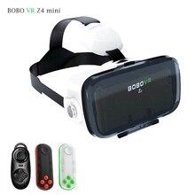 BOBO Z4 MINI Auricular Gafas 3D de Realidad Virtual VR Google cartón Casco vrbox Cabeza Teléfono de Montaje Para $ number '-$ number' + Bluetooth remoto