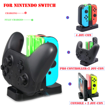 High-quality LED Indicator Light Controller Charger Charging Dock Station Stand for Nintend Switch NS Pro Controller Joy-con