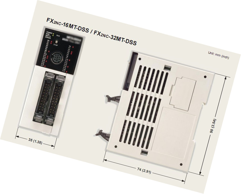 New Original FX2NC-16MT PLC Micro Programmable Controller