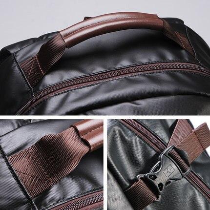 Svvisssvver 다기능 가죽 배낭 남성 가방 패션 방수 여행 usb 충전 15.6 인치 노트북 배낭 남자-에서백팩부터 수화물 & 가방 의  그룹 3