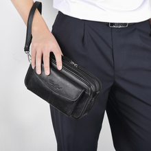 Genuine Leather Mens Clutch Bags for Men Hand Bag Male Long Money Wallets Mobile Phone Pouch Man Party Clutch Coin Purse