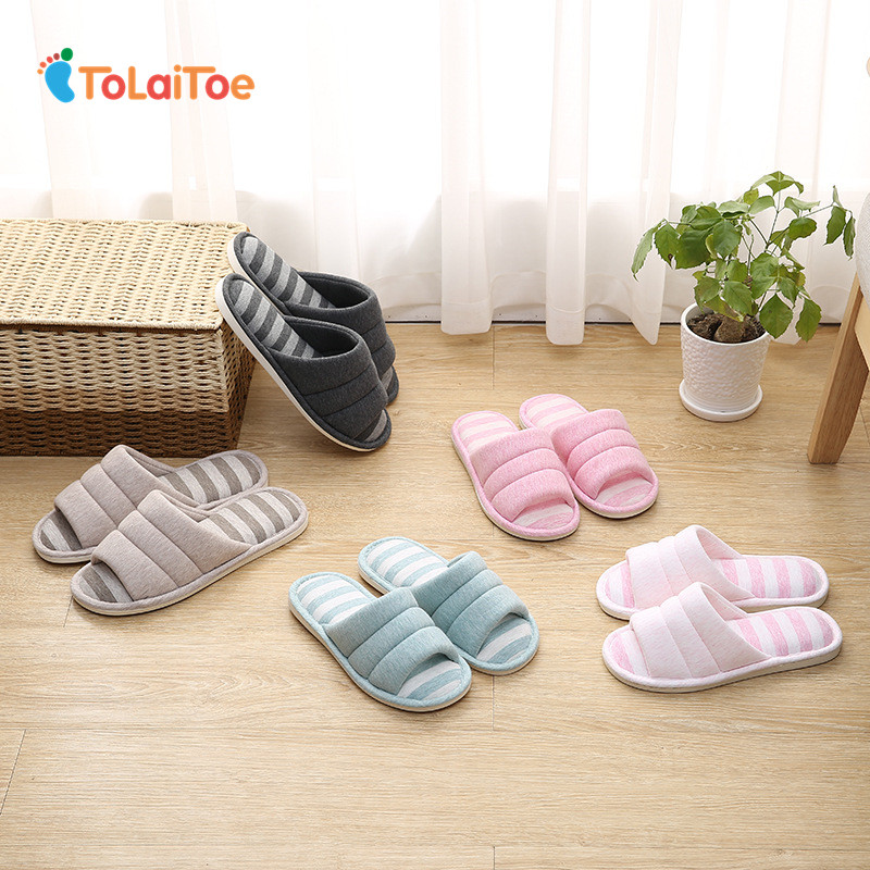 ToLaiToe 2017 the new household slippers linen-cotton slippers home wood slippers men's indoor slippers tolaitoe autumn winter animals fox household slippers soft soles floor with indoor slippers plush home slippers