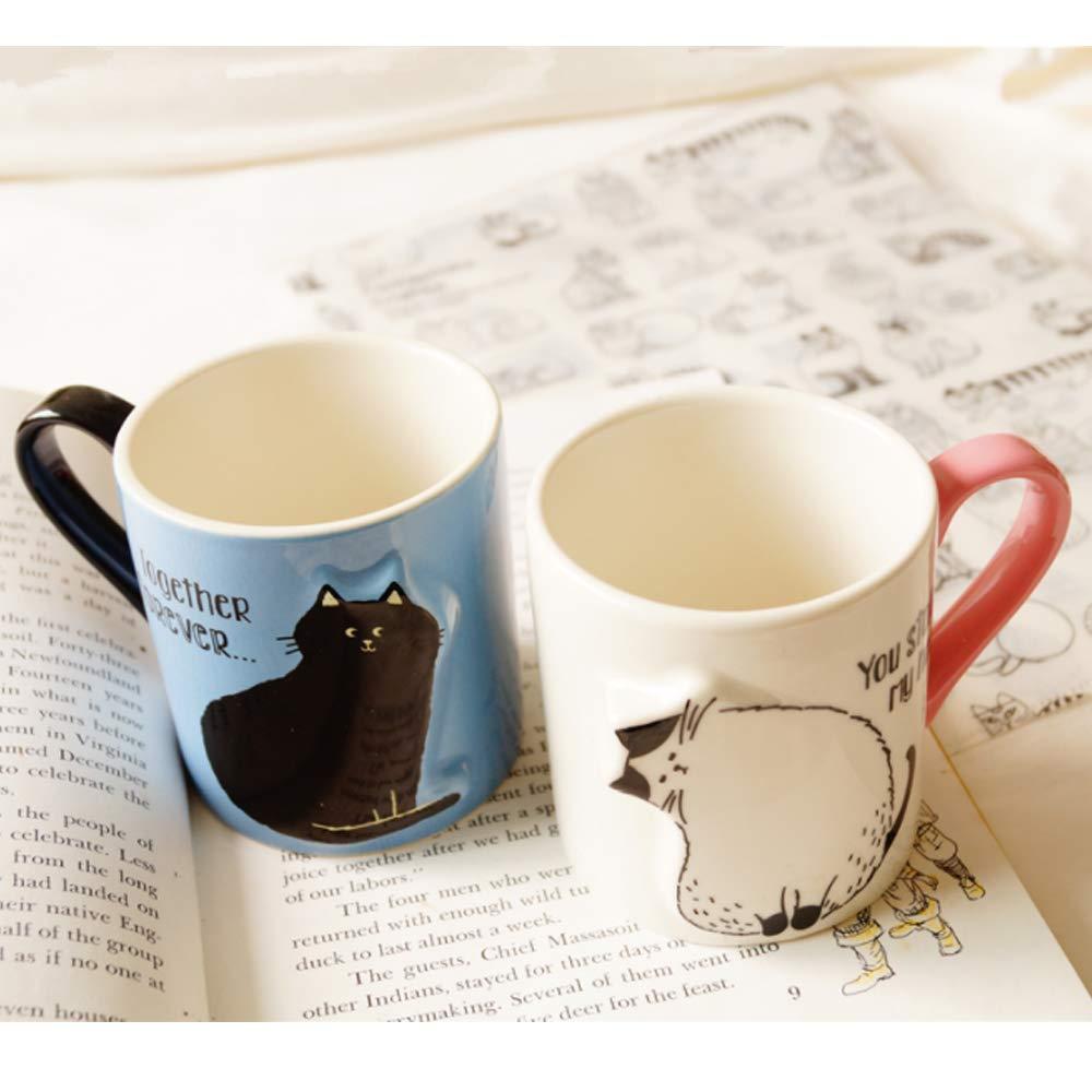 2pcs Cute Cat Coffee Mug Set Couples Set Unique Wedding Gift For
