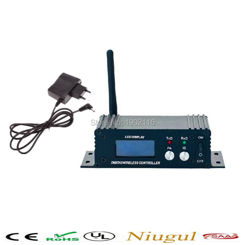Free shipping  DMX512 Wireless Transmitter Receiver 2.4GHz XLR DMX DJ Repeater LED Stage Lighting Controller with LCD Display dhl free shipping dmx wireless module dmx wireless pcb
