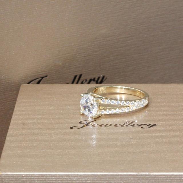 1CT Simulated Diamond 9K Yellow Gold Ring