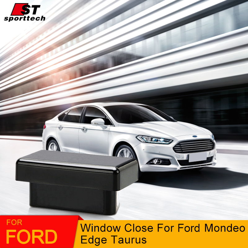 Auto Close Car Window OBD System For For Ford Mondeo/Taurus/Edge Car Power Window Roll Up / Remotely Close 4 Windows Accessories pwtr a181d auto car power window motor close control module w one touch function gray 12v