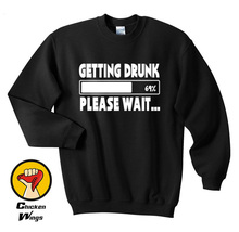 Getting Drunk Beer Stag Party Gift Funny Shirt Crewneck Sweatshirt Unisex More Colors XS - 2XL цены